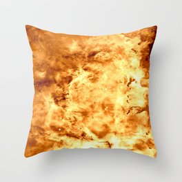 Gold Nebula Throw Pillow