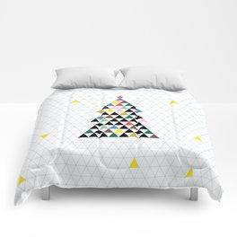 Geometric Christmas Tree Comforters