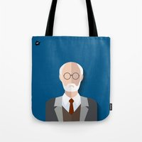 freud Tote Bags featuring Freud by Diretório do Design