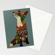 fox love juniper Stationery Cards