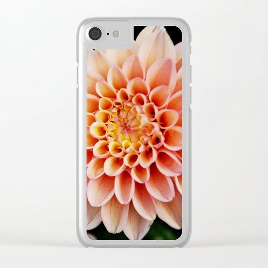 Light Orange Dahlia Clear iPhone Case