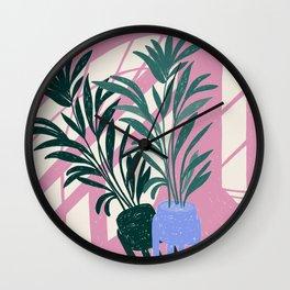 Pink Shadows Wall Clock