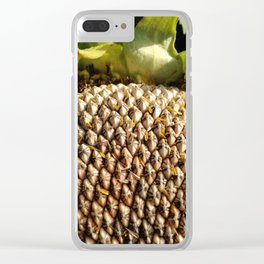 Sunflower Seeds Clear iPhone Case