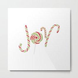 Candy joy word Metal Print