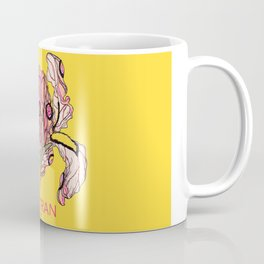 T.F TRAN YELLOW NEON BUTTERFLY IRIS Coffee Mug