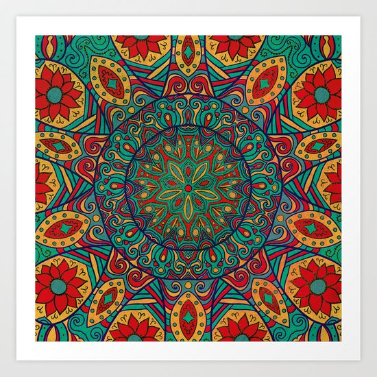 Tribal Mandala Art Print