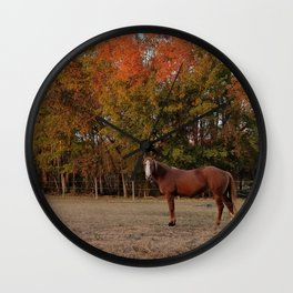 Where is My Horse Hay? Wall Clock