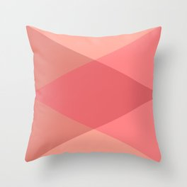 Rose Triangles Throw Pillow