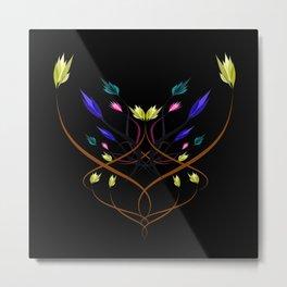 floral emblem -de31 Metal Print