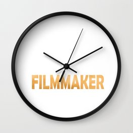 Keep Calm And Let The Filmmaker Handle It - Funny Directing print Wall Clock