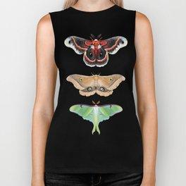 Giant Silk Moths - Digital Painting Biker Tank