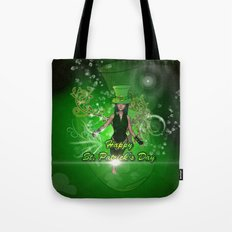 Happy St. Patrick's day with beautiful girl Tote Bag