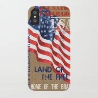 patriotic iPhone & iPod Cases featuring Patriotic Text by Debbie DeWitt
