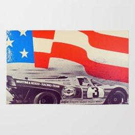 Vintage USA Racing Poster Rug