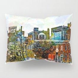 Domino Sugars Neighborhood, Locust Point, Baltimore, Maryland  Pillow Sham
