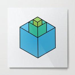 Square in Square Metal Print
