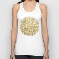 golden Tank Tops featuring Golden Burst by Cat Coquillette