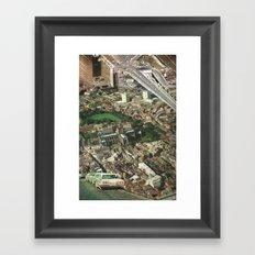 Down Town Framed Art Print