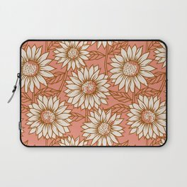 Coral Sunflowers Laptop Sleeve