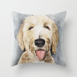 Goldendoodle Watercolor Throw Pillow