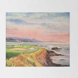 Pebble Beach Golf Course 7th Hole Throw Blanket