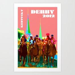 Glory of Kentucky Derby Art Print