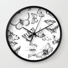Butterflies and moths Wall Clock