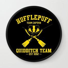Hufflepuff Quidditch Wall Clock