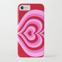 powerpuff girls iPhone & iPod Cases featuring powerpuff hearts by tukylampkin