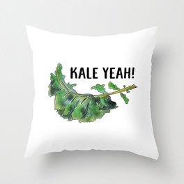 Kale Yeah! Throw Pillow
