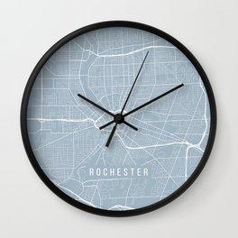 Rochester Map, USA - Slate Wall Clock