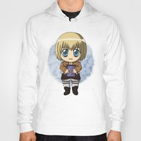 shingeki no kyojin Hoodies featuring Shingeki no Kyojin - Chibi Armin by Tenki Incorporated