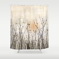 home sweet home Shower Curtains featuring Home, Sweet Home by MiniMe