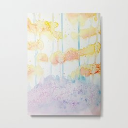 Autumn Woods Watercolor Metal Print