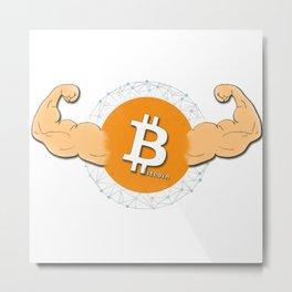 Bitcoin Strength Metal Print