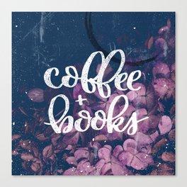 Coffee + Books Canvas Print