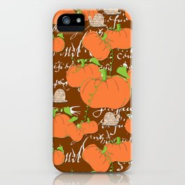 A French Pumpkin Patch iPhone Case