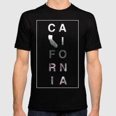California Mens Fitted Tee Black LARGE