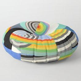 Robert Delaunay - Rythme no 3 - Rhythm no 3 - Abstract Colorful Art Floor Pillow