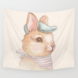 Bunny With Hat Wall Tapestry