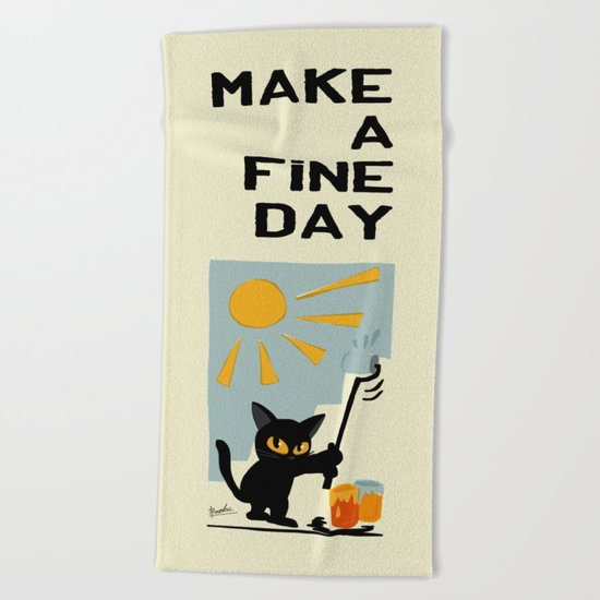 Fine day Beach Towel