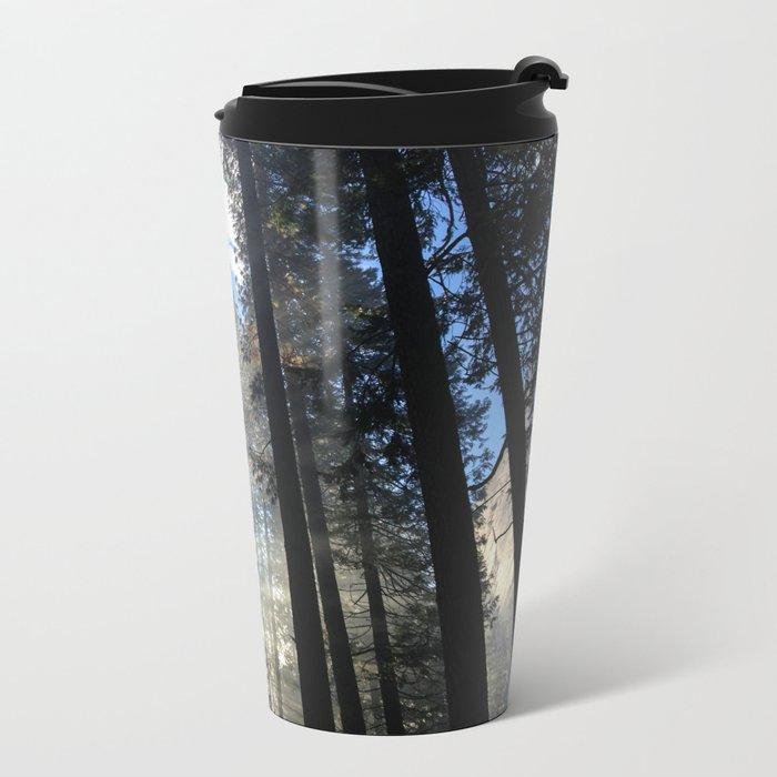 Sunlight Shines Through the Trees Metal Travel Mug