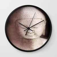 buddah Wall Clocks featuring Buddah 1 by Linda K. Photography & Design