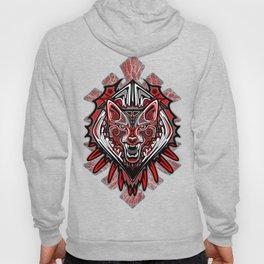 Wolf Tattoo Style Haida Art Hoody
