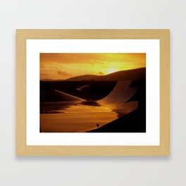 Skate park during a rainy sunset Framed Art Print