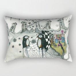 """Penguins"" Rectangular Pillow"