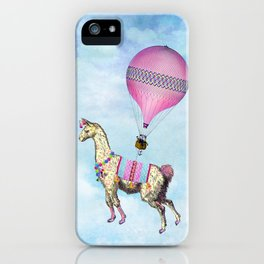 Flying Llama iPhone Case