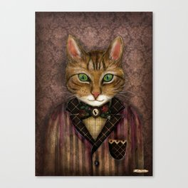 Sir Harold And His Mouse Betty Canvas Print