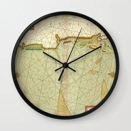 A chart of JUTLAND and the Islands of Omtren Wall Clock