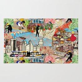 Urban Sightings Collage Rug